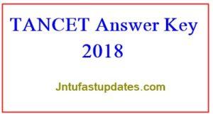 TANCET Answer Key 2018