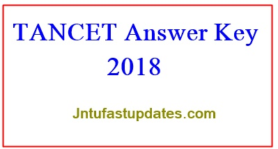 TANCET Answer Key 2018