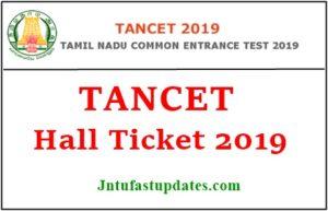 TANCET Hall Ticket 2019