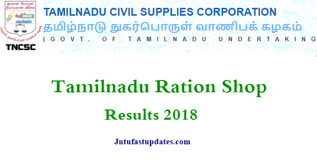 Tamil Nadu Ration Shop Results 2018