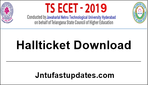 TS ECET 2019 Hall Ticket