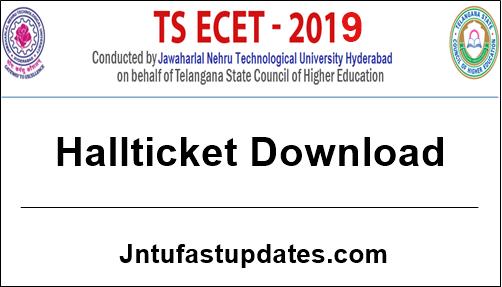 TS ECET 2019 Hall Ticket