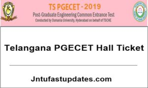 TS PGECET Hall Ticket 2019