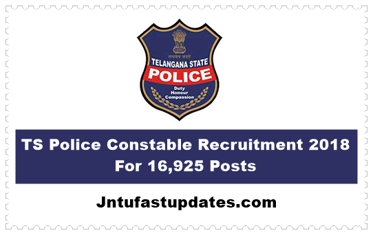 TS Police Constable Recruitment 2018