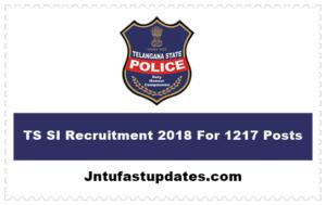 TS SI Recruitment 2018