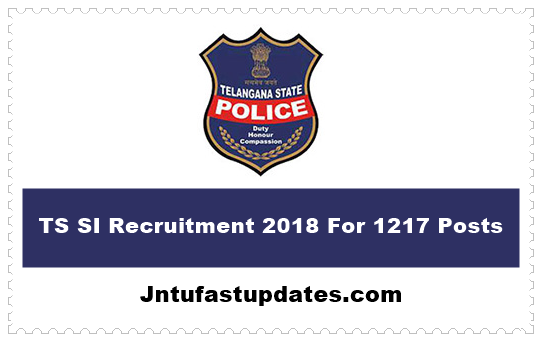 TS SI Recruitment 2018