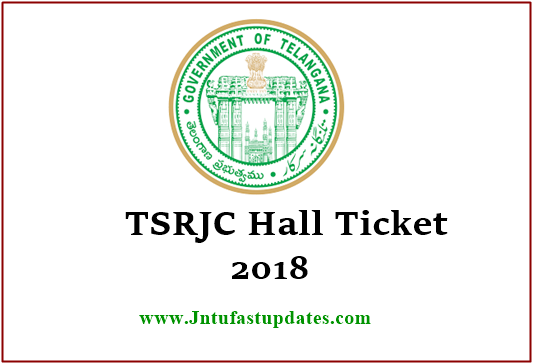 TSRJC Hall Tickets 2018 Download