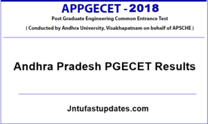 AP PGECET Results 2018 – Download Rank Card @ sche.ap.gov.in