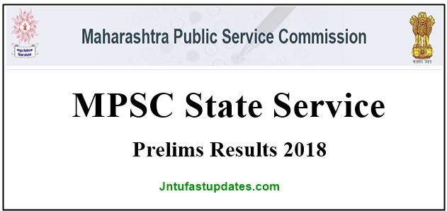 MPSC State Service Prelims Results 2018
