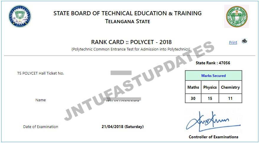 ts polycet 2018 result and rank card