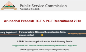 Arunachal Pradesh TGT & PGT Recruitment 2018