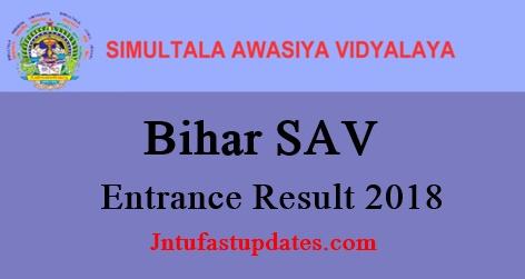 Bihar Simultala Awasiya Vidyalaya Entrance Results 2018