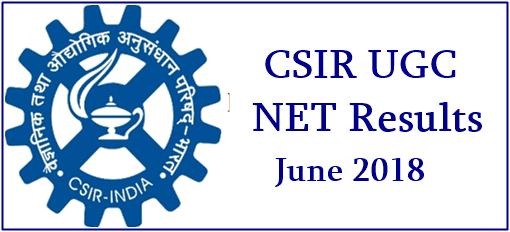 CSIR UGC NET Result 2018