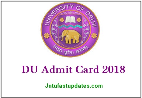 DU Admit Card 2018 Download