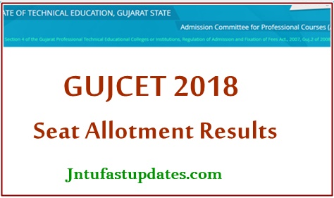 GUJCET ACPC 1st Round Seat Allotment Results 2018