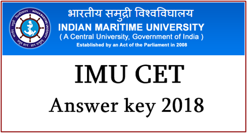 IMU CET Answer Key 2018