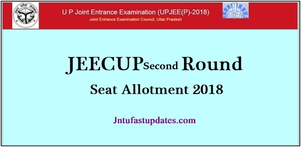JEECUP 2nd Round Seat Allotment Results 2018