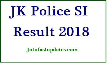JK Police SI Results 2018