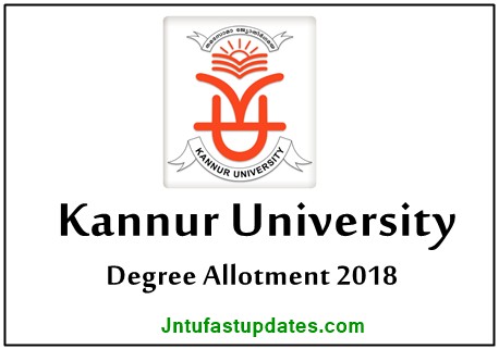 Kannur University UG Degree First Allotment Result 2018 List