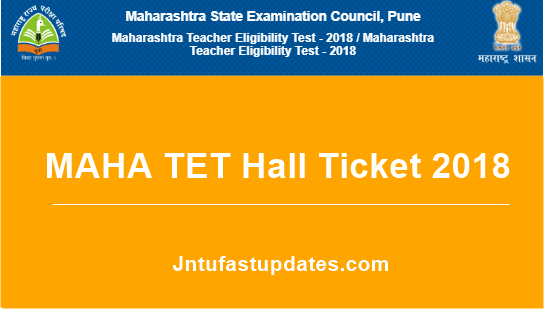 MAHA TET Hall Ticket 2018