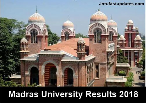 madras university exam results