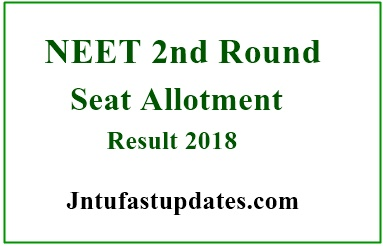 NEET Second Round Seat Allotment Results 2018
