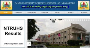 NTRUHS Results 2018 – UG/PG Result of Dr.NTR University of Health Sciences