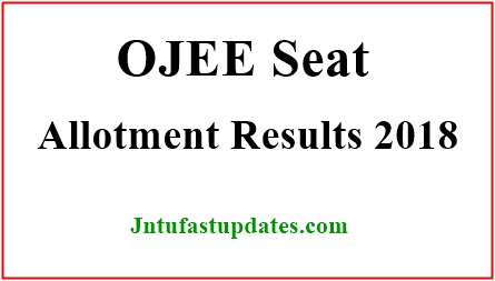 OJEE Mock Seat Allotment Results 2018