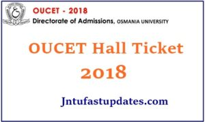 OUCET Hall Ticket 2018