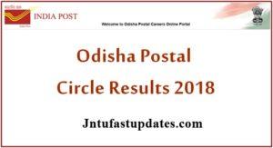Odisha Postal Circle Results 2018