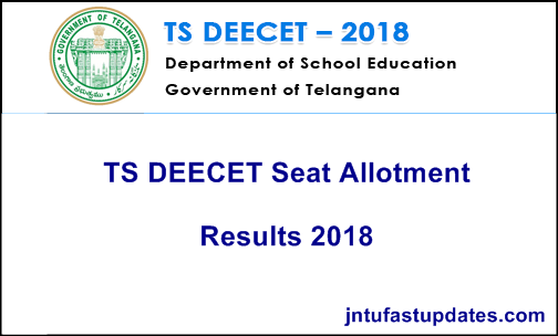 TS DEECET Seat Allotment Results 2018