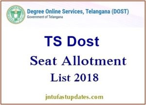 Telangana DOST Final Phase Seat Allotment 2018 Results – TS Degree 6th Allotment List @ Dost.cgg.gov.in
