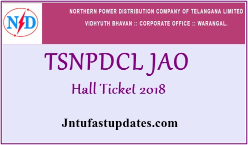 TSNPDCL JAO Hall Ticket 2018 Download