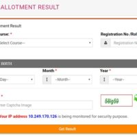 UP BTC D.El.Ed Counselling Seat Allotment Result 2018