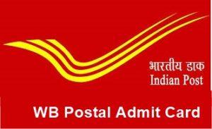 WB Postman-Mail Guard Admit Card 2018