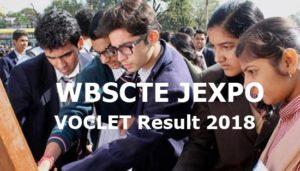 WBSCTE JEXPO/ VOCLET Results 2018