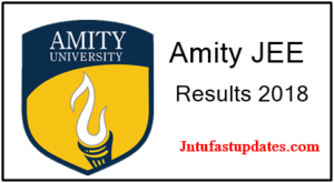 AMITY JEE Result 2018