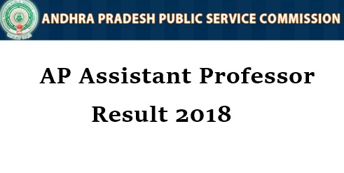AP Assistant Professor Result 2018