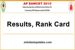 AP EAMCET Results 2019