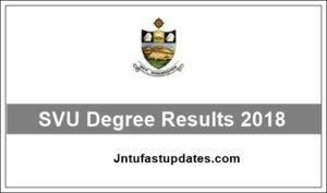 SVU Degree 2nd, 4th, 6th Sem Results 2018: BA, B.Com, B.SC @ manabadi.com, svuniversity.ac.in