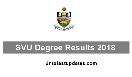svu degree results 2018