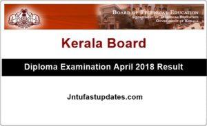 TEKerala Diploma Result 2018: Kerala Polytechnic 1st, 2nd, 3rd, 4th, 5th, 6th Sem results @ tekerala.org