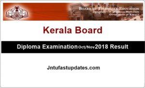 TEKerala Diploma Result 2018