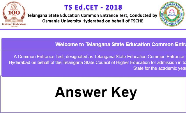 ts edcet answer key 2018