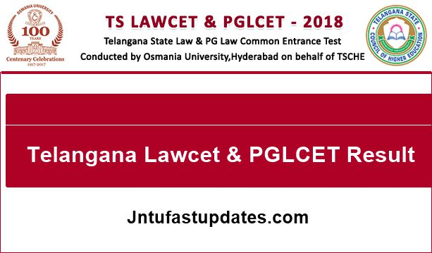 ts lawcet & pglcet result 2018