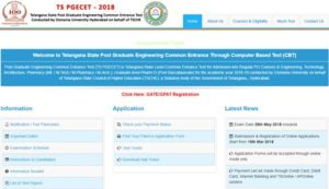 TS PGECET Results 2018 Released – Telangana PGECET Result, Rank Card Download @ pgecet.tsche.ac.in