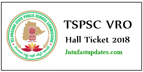 TSPSC VRO Hall Ticket 2018