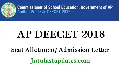 AP DEECET Seat Allotment Order 2018
