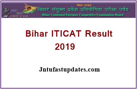 Bihar ITICAT Results 2019