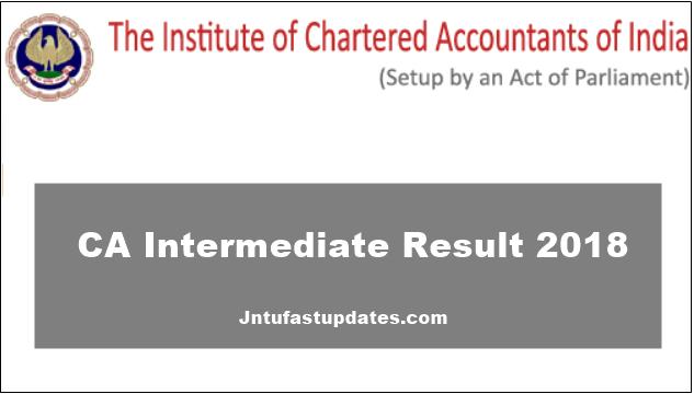 CA Intermediate Result 2018